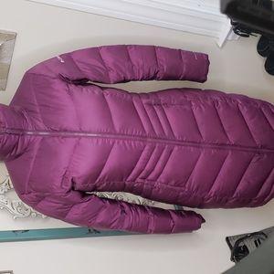Columbia duck down Omni heat purple parka long coat